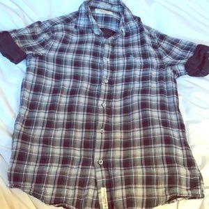 Original Penguin short sleeve plaid shirt